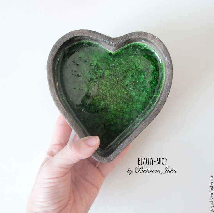 Купить Конфетница сердце - тёмно-зелёный, Керамика, керамика ручной работы, керамическая посуда, конфетница