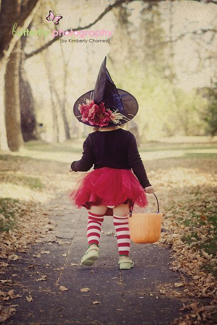 Super cute little witch costume for Halloween