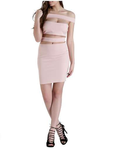 ΝΕΕΣ ΑΦΙΞΕΙΣ :: Φόρεμα Blank and Lines Pink - OEM