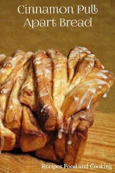 Cinnamon Pull Apart Bread - Layers of light bread sandwiched with cinnamon and butter makes this Cinnamon Pull Apart Bread to die for! Recipes, Food and Cooking