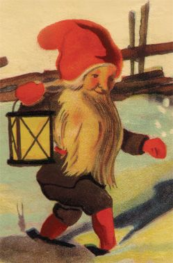 Tomten/Tomte poster, a beautiful Scandinavian / Swedish Christmas decoration or gift