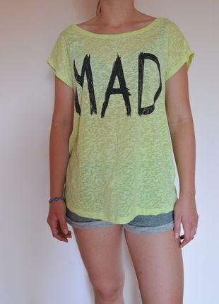 Kup mój przedmiot na #vintedpl http://www.vinted.pl/damska-odziez/koszulki-z-krotkim-rekawem-t-shirty/9962956-neonowa-bluzka-zielono-zolta-z-nadrukiem