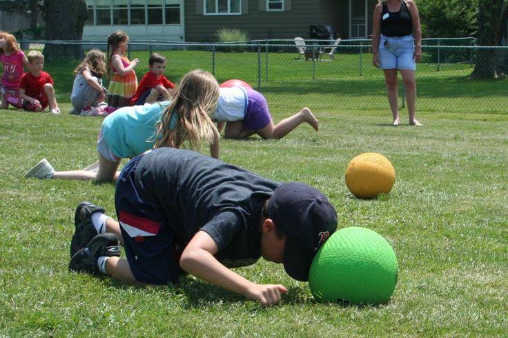 Beach Ball Relay Games   ... kick ball through a relay course at the school's annual game day