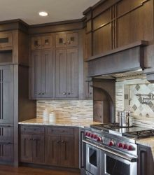 birch cabinets in taupe stain - Google Search