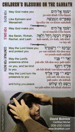 BEAUTIFUL!!!!  Blessings for children on the SHABBAT (Sabbath) http://www.sdahymnal.net/