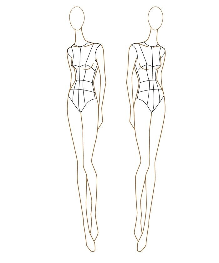 Fashion Model Outline : fashion, model, outline, MyBodyModel, Positive, Design, Garment, Makers, Whileshenaps.com, Fashion, Template,, Sketch, Figure, Drawing