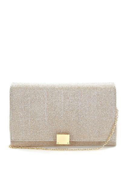 Drap Barcelona - Borse - Accessori - Pochette in tessuto con chiusura a gancio e tracolla gold. Misure 28 x 18 cm. - PEACH - € 69.00