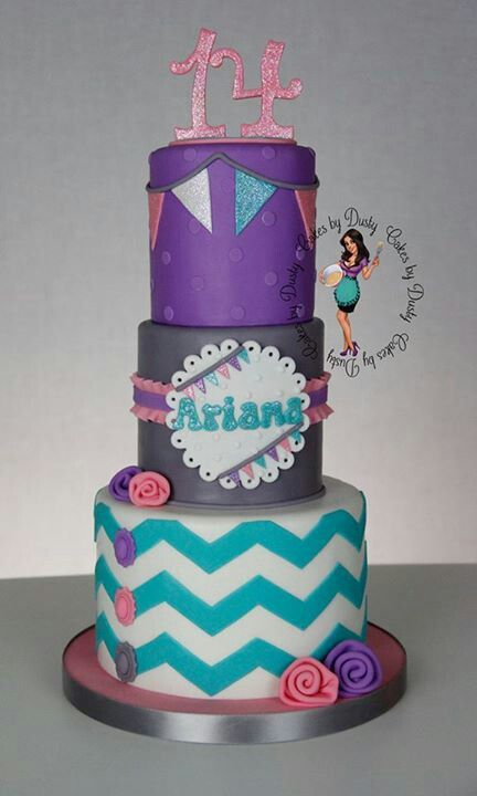 ChevronChevron Girls Birthday Cake, Chevron Buntings, Cake Ideas, Parties Ideas, Turquoise Chevron, Purple And Teal Cake, Pink And Purple Chevron Cake, Buntings Cake, Party Cakes
