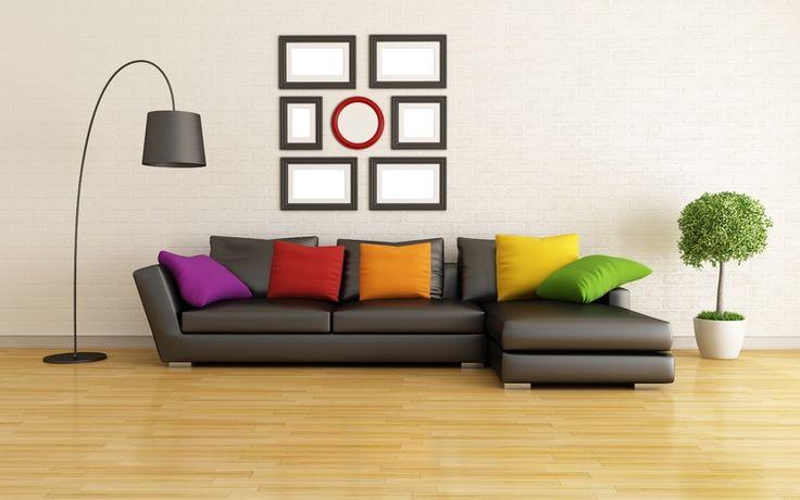 Stylish Design, Pillows, Modern Living Room