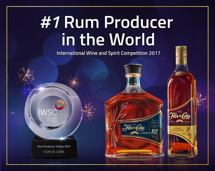 "Cheers!  ""This distinction, the highest within the global spirits industry, is the most powerful endorsement of Flor de Caña's quality and excellence. The rum is naturally aged without sugar, additives or artificial ingredients, enriched by an active volcano and distilled with 100% renewable energy."""