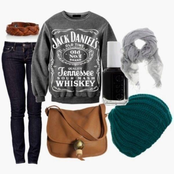 That Jack Daniels sweatshirt. I want it.