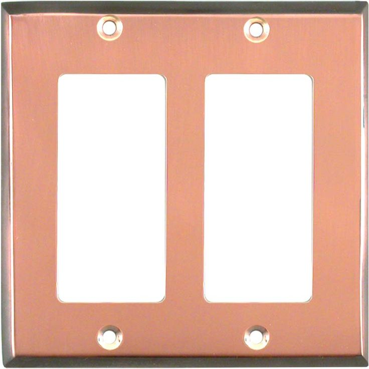 antiqued copper edge light switch plates outlet covers wallplates