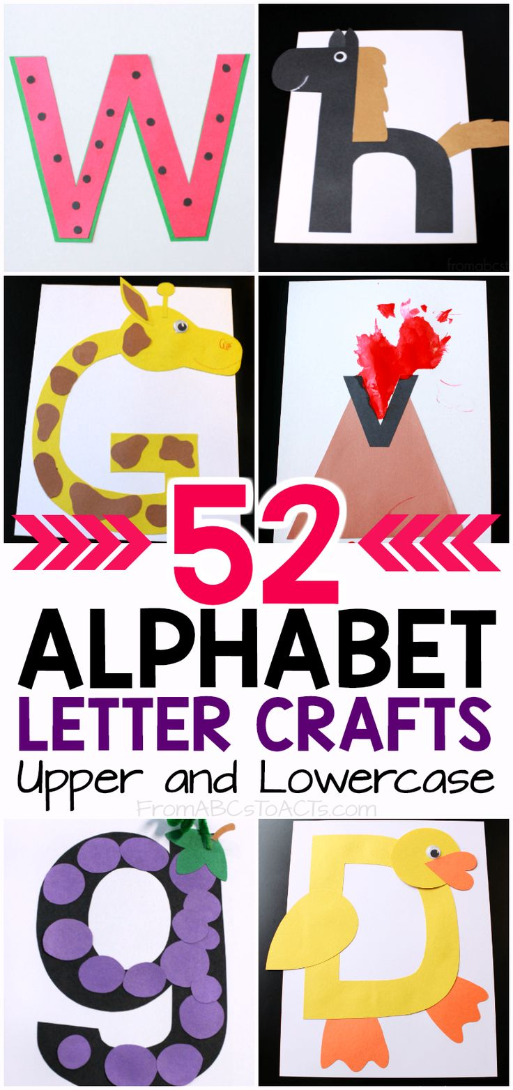 What an adorable way to teach your preschooler the letters of the alphabet!! When you're done with all of the crafts, use a binder to turn them into your very own alphabet book. I can't believe I didn't think of this before!