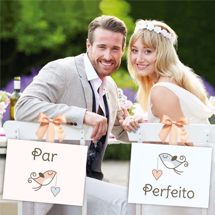 Plaquinhas para Casamento - Placas de Cadeira