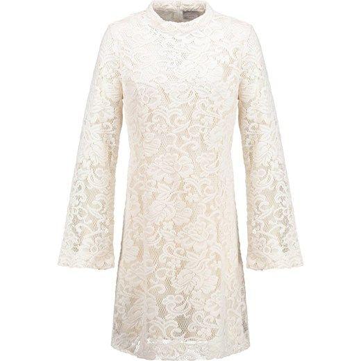 Vero Moda VMLUCY  Sukienka letnia antique white zalando bezowy kołnierzyk