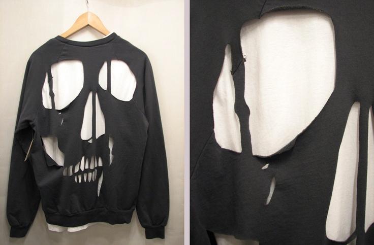 black, cut out, fashion, shirt, skull | Skull crafts ...