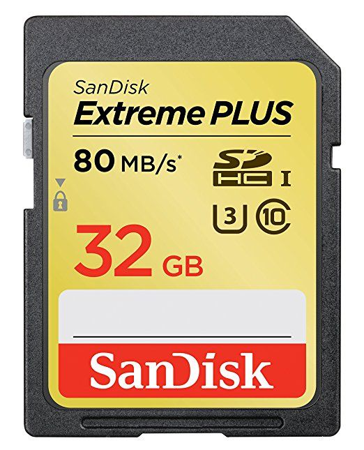 SanDisk Extreme Plus 32GB UHS-1/U3 SDHC Memory Card Up To 80MB/s- SDSDXS-032G-X46 (Label May Change)