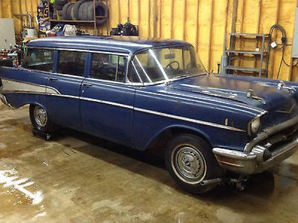 1957 chevrolet bel air base wagon 4 door klassic wagons for 1957 chevy wagon 4 door