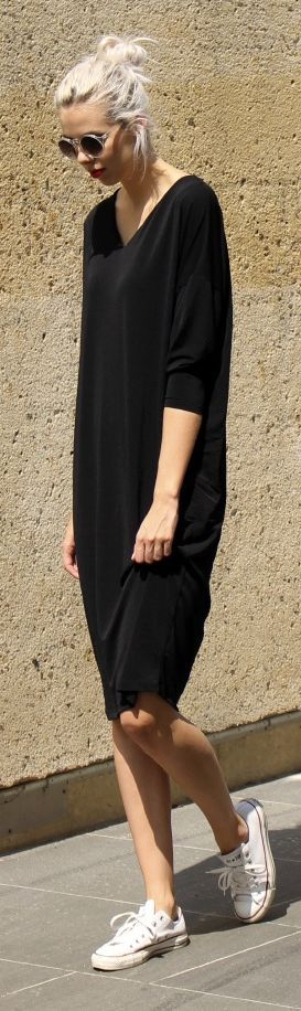 Asos Black Regular Fit Midi Dress by Connectedtofashion