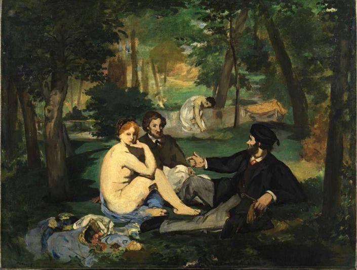 Édouard Manet, Le dejeneur sur l'herbe (1862-63)