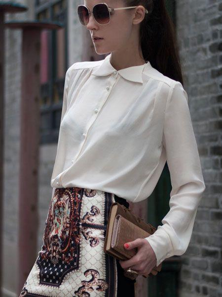 BG-impression® Vintage Pattern Print Short Skirt