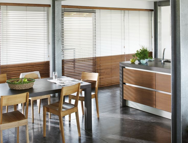 Luxaflex's Home Collection gives you the choice of vertical or venetian blinds. We love these chic wooden venetian's, perfect for a kitchen or dining room, these are easy to maintain and look effortlessly stylish! Dickinsons offer a great measuring and fitting service too, enabling you to get the designer look, hassle free!