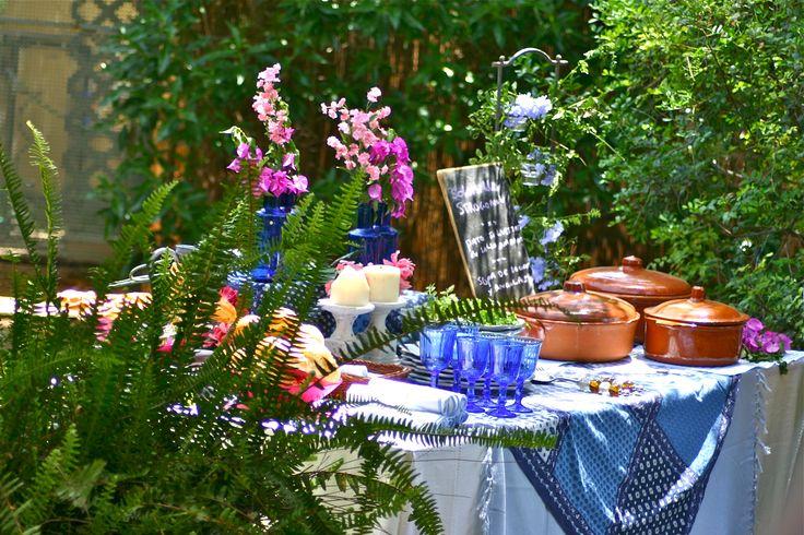 Buffet almuerzo en el jardin by CateringConmigo.Sevilla