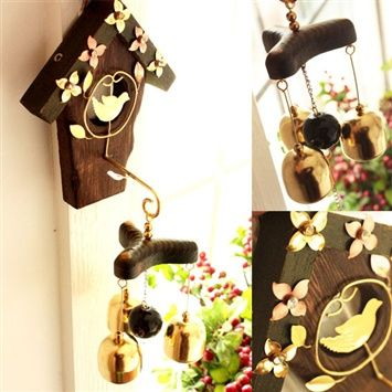Ledou™  Japanese natural solid wood copper wind chimes (coupon code 3offpin)