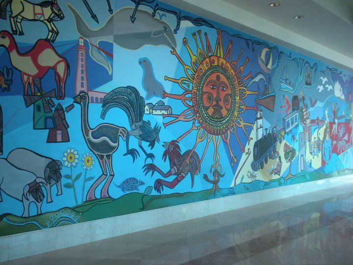 Hotel Conrad,  pintura de Carlos Paez Vilaro Punta del Este - Uruguay