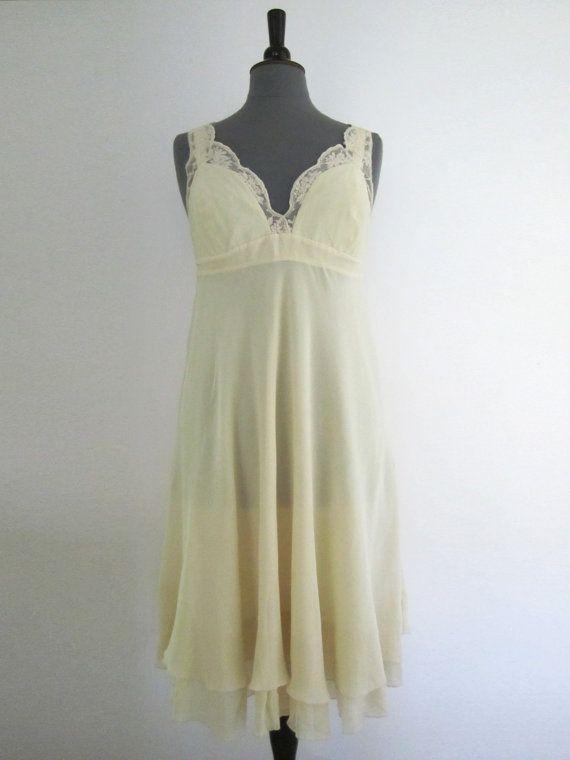 Vintage Wedding Dress Reception Dress Silk Light by RoseVoila, $48.00