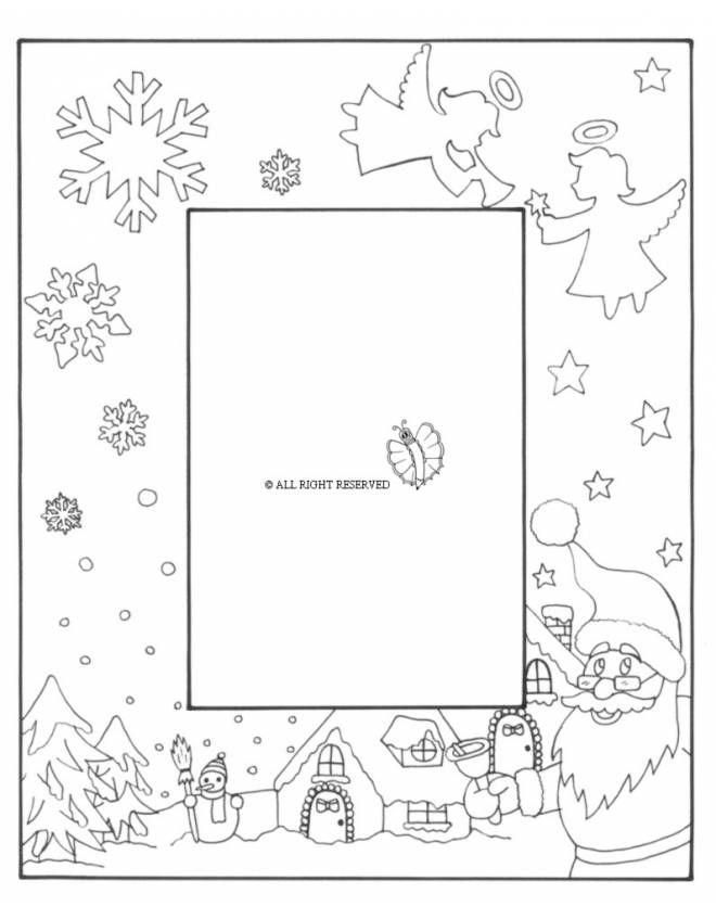 Disegno Di Cornice Di Natale Verticale Da Colorare 2017 Natale