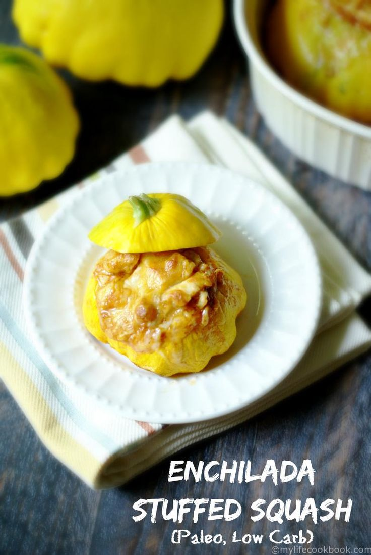 This Enchilada Stuffed Squash is a great low carb and Paleo use of the squash from your garden. Fun dinner for the kids as you use the squash as a bowl!
