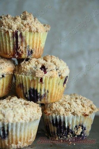Лимонно-черничные Кексы on http://kulinarniyclub.ru Lemon & blueberry muffins