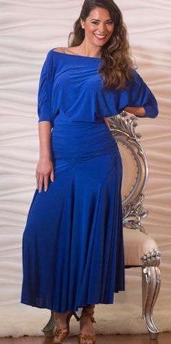 Нарядный Латинский танец Топ в синих латинских Tops танец - сальса, танго, костюм [T602_blue] - $ 89.00: латинский танец одежда, Обувь для бальных танцев, латинские танцы юбки и платья сальса.