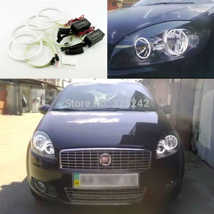 For Fiat Linea 2007-2015 Excellent CCFL Angel Eyes kit Ultra bright headlight illumination angel eyes Halo Ring