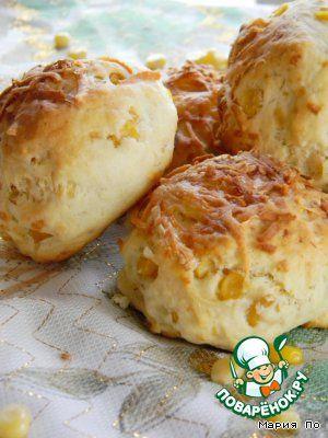 Сырные булочки со сладкой кукурузой - кулинарный рецепт