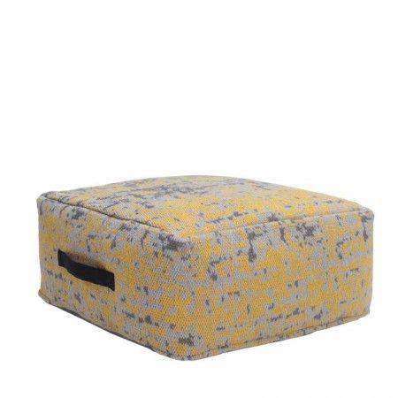 DOK 2 - Het Woonwarenhuis Poef Vintage geel
