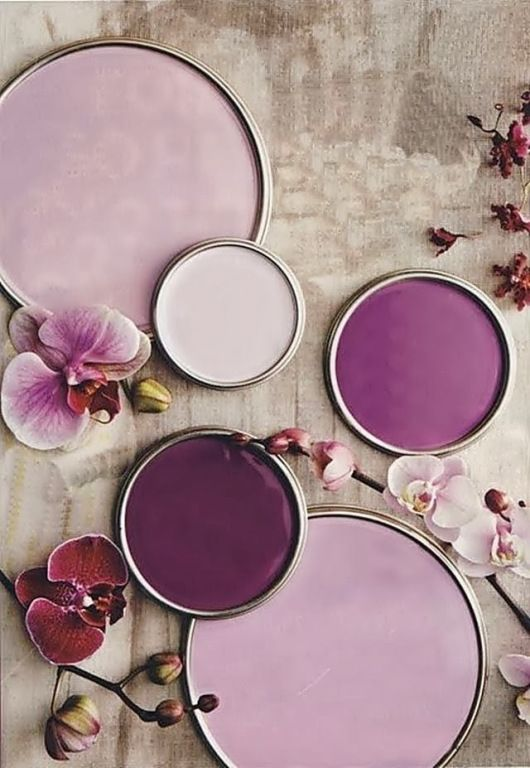 color palette | orchid hued paints by benjamin moore | via: decor8