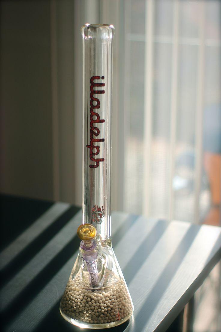 White diffuser beads make this Illadelph bong hit so smooth. #Bong #Pipe #Waterpipe #Stoner #Pot #Weed #Glasspipe #Teagardins #SmokeShop http://Teagardins.com