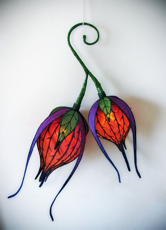 Two Blooms Silk Portable LED Lantern