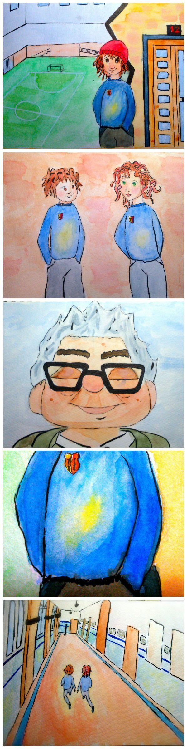 Ilustración. Adaptación del cuento El origen de la felicidad de Pedro Pablo salinas. Formación Humana. 1º Educación Primaria