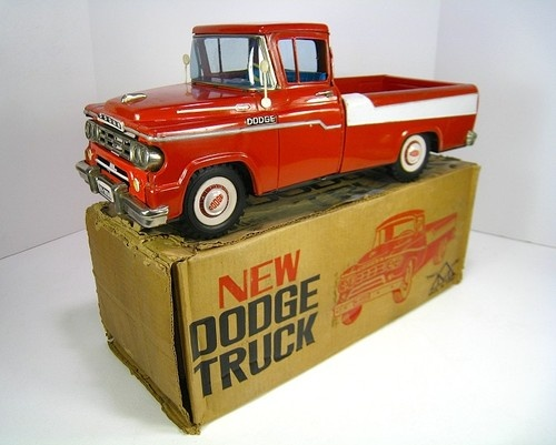 """Mitsuhashi Tin 1958 Dodge D 100 Pick Up Truck 23"""" Excellent with Box 
