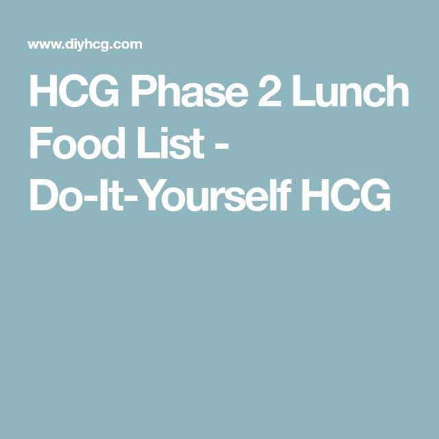 HCG Phase 2 Lunch Food List - Do-It-Yourself HCG