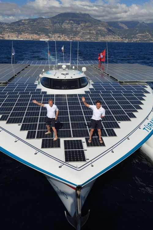 Around the world ship, all powered by the sun!!