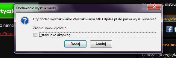 Wyszukiwarka mp3 do firefox - FAQ - Portal - DjOles.pl