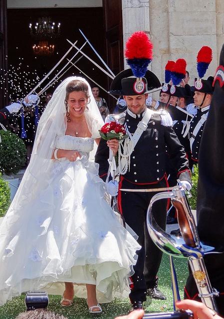 Nozze tra carabinieri (policeman's wedding)  Sardinia, Italy