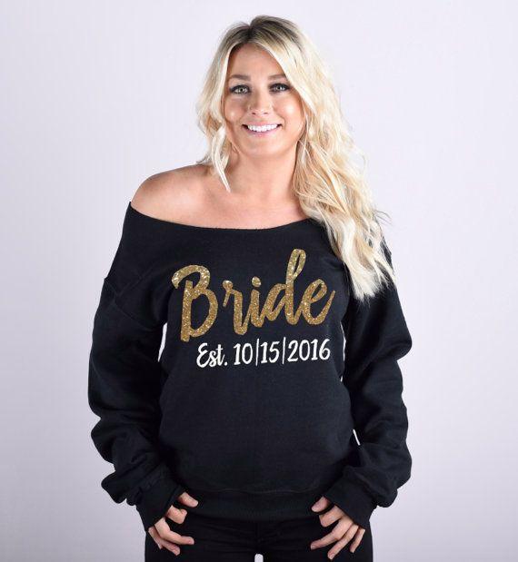Bride Sweatshirt. Bridal Sweatshirt. Wedding by BrideAndEntourage