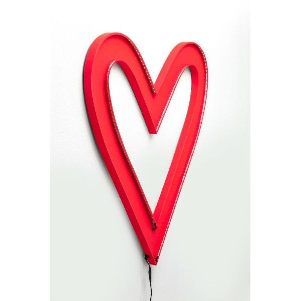 Φωτιστικό τοίχου Heart Big LED Δημιουργήστε μία ρομαντική ατμόσφαιρα στο χώρο με μία μεγάλη κόκκινη καρδιά που θα διακοσμεί και συγχρόνως θα φωτίζει το χώρο σας, Energy class: A, συμπεριλαμβάνει λάμπες Led 4,8W . Υλικό : Μεταλλικό φωτιστικό