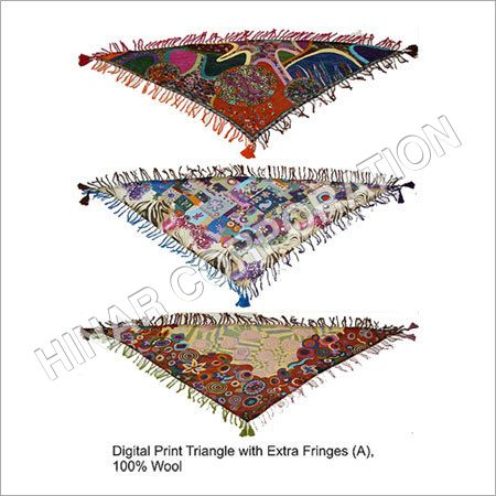 Digital Print Wool Triangle Scarves