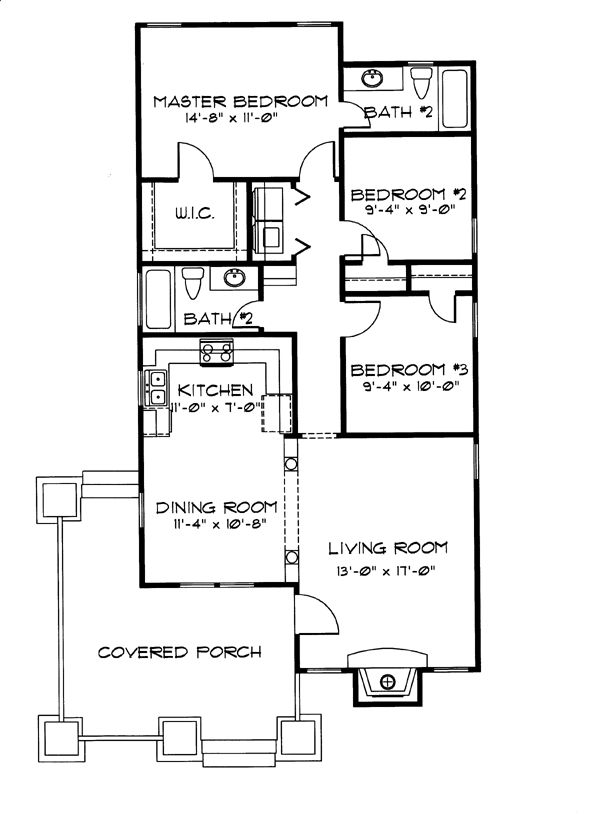 20 x 40 house plans escortsea for 14 x 40 house plans